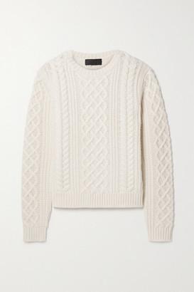 Nili Lotan Jodelle Cable-knit Cashmere Sweater - Ivory