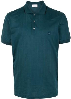 Salvatore Ferragamo Striped Short-Sleeve Polo Shirt