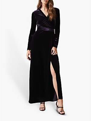 Phase Eight Valeria Velvet Dress, Grape