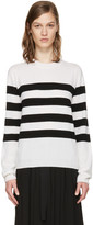 Jil Sander White & Black Marine Sweater