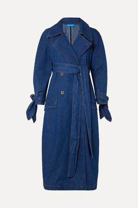 MiH Jeans Audie Belted Denim Trench Coat - Mid denim