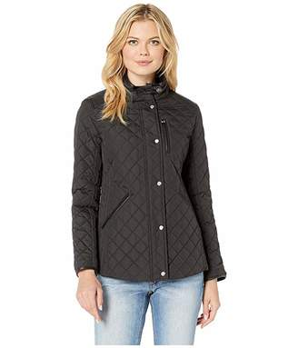 Lauren Ralph Lauren Quilted Barn Jacket with Faux Leather Trim