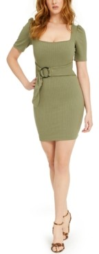 GUESS Annike Belted Bodycon Dress