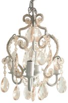 Tadpoles White Diamond 3 Bulb Chandelier