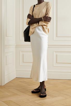 FRANCES DE LOURDES Elise Organic Cotton-jersey T-shirt - Neutrals