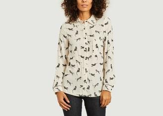 La Petite Francaise Cyril Feline Print Shirt - 40