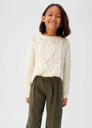 MANGO Flowy cargo trousers khaki - 5 - Kids