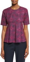 Opening Ceremony Medallion Jacquard Flared Penn Top, Dragonfruit