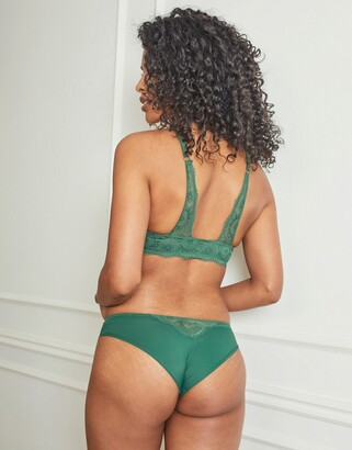 Pour Moi? Pour Moi Fuller Bust Love lace front closure plunge bra in green