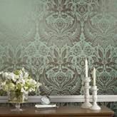 Graham & Brown Green Damask Desire Metallic Wallpaper