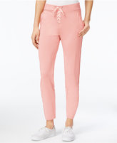Material Girl Juniors' Lace-Up Jogger Pants, Only at Macy's