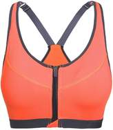 Befamous Women's High Impact Front Zipper Sports Bra