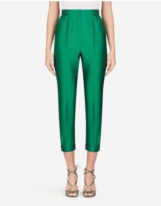 Dolce & Gabbana High-Waisted Shantung Pants