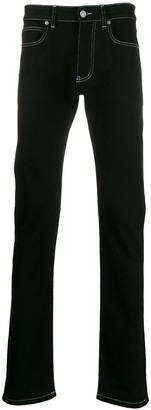 Versace Contrast Stitch Straight Jeans