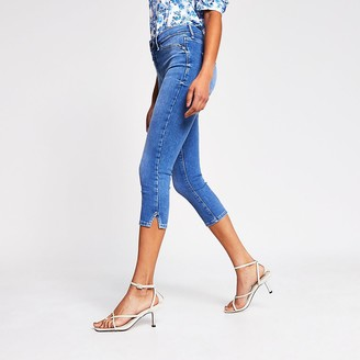 River Island Blue cropped Molly mid rise jeggings