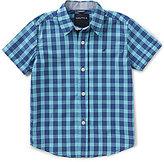 Nautica Little Boys 4-7 Checked Short-Sleeve Point Collar Woven Shirt