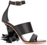 Alexander McQueen No. 13 flower wedge sandals