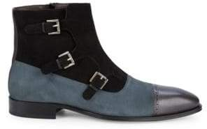 Mezlan Classic Suede & Leather Ankle Boots