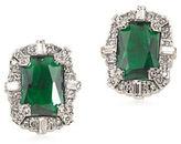 Carolee Wall Street Silvertone Button Clip-On Earrings