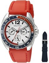 Nautica Men's NAD11523G Sport Ring Gift Set Analog Display Quartz Red Watch