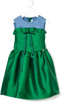 Simonetta dress with frill and bow detail
