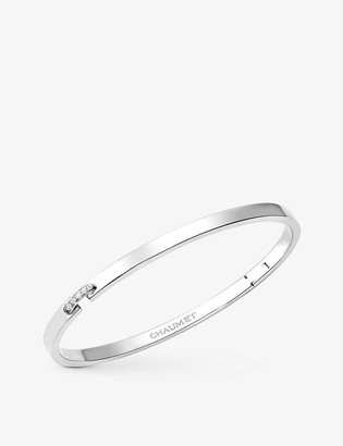 Chaumet Liens Evidence 18ct white-gold and 0.05ct diamond bracelet
