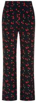 Chinti and Parker Silk Cherry Printed Trousers