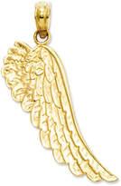 Macy's 14k Gold Charm, Angel Wing Charm
