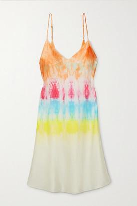 Dannijo Tie-dyed Silk-satin Mini Dress - Pink