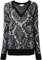 MICHAEL Michael Kors snakeskin effect jumper - women - Nylon/Mohair/Wool - XS