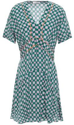 Sandro Dalli Printed Silk Crepe De Chine Mini Dress