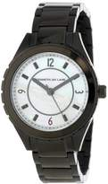 Kenneth Jay Lane Women's KJLANE-2223 Mother-Of-Pearl Dial Black Ion-Plated Stainless Steel Watch