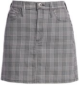 AG Jeans Harlo Plaid Mini Skirt