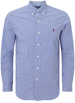 Polo Ralph Lauren Button Down Pin Point Collar Long Sleeve Shirt, Blue/White