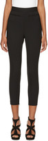 Alexander McQueen Black High-rise Slim Trousers