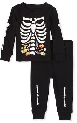 The Children's Place Halloween Toddler Boys Long Sleeve Snug Fit Cotton Pajamas, 2-Piece Set
