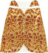 Giambattista Valli Embroidered tulle mini skirt