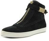 Furla 802158 Women Round Toe Leather Black Sneakers.