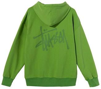 Stussy SLANT FLEECE HOOD WOMENS - XS | green - Green/Green