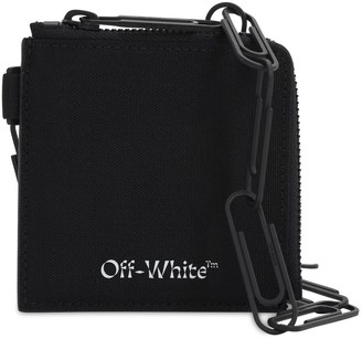 Off-White Logo Zip Leather Chain Wallet