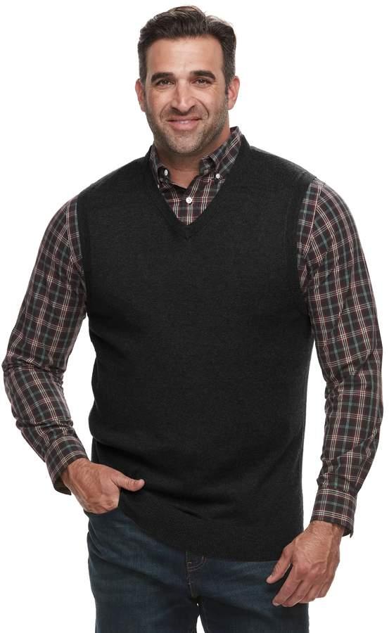 Croft & Barrow Big & Tall Classic-Fit 12gg Sweater Vest