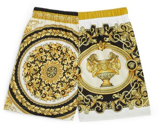 Versace Kids Baroque Print Swim Shorts (4-14 Years)