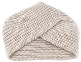 Alpaca Blend Beige Knit Hat from Peru, 'Sweet Eccentric'