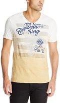 Buffalo David Bitton Men's Natom Short Sleeve V-Neck Fashion Tee Shirt