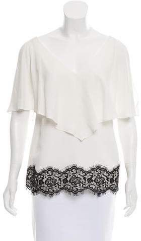 Derek Lam Lace-Trimmed Top w/ Tags