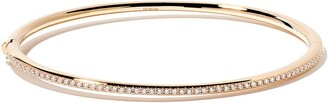 De Beers 18kt yellow gold Micropave diamond bangle
