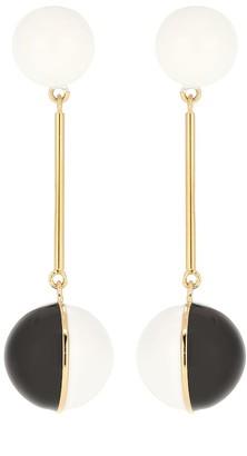 J.W.Anderson Enamel Mini Sphere drop earrings