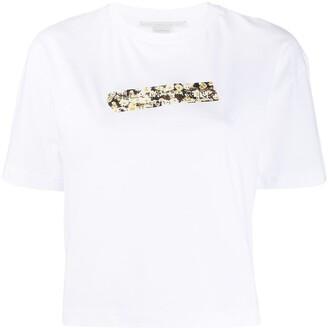Stella McCartney floral logo print T-shirt