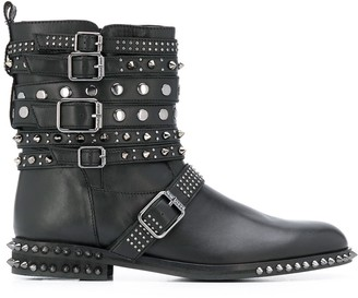 Twin-Set buckle detail boots