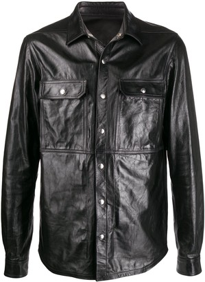 Rick Owens Chest Pocket Leather Shirt